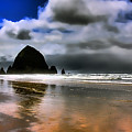 Sun Shining On Haystack Rock by David Patterson