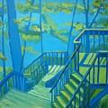 Suncook Stairwell by Debra Robinson