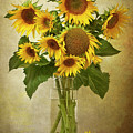 Sunflowers In Vase by © Leslie Nicole Photographic Art