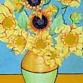 Sunflowers Tribute To Vincent Van Gogh II by Christine Belt