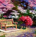Sunny Bench Plein Aire by David Lloyd Glover