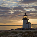 Sunrise At Brant Point Nantucket by Henry Krauzyk