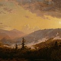 Sunset After A Storm In The Catskill Mountains by Jasper Francis Cropsey