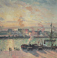 Sunset At Rouen by Camille Pissarro
