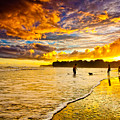 Sunset At The Coast by Iris Greenwell