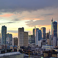 Sunset Over  Makati City, Manila by Neil Howard