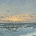 Sunset Over The Sea by William Pye