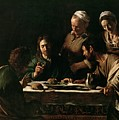 Supper At Emmaus by Michelangelo Merisi da Caravaggio