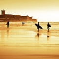 Surfers Silhouettes by Carlos Caetano