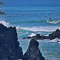 Surfing The Rugged Coastline by Bette Phelan