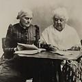 Susan B. Anthony And Elizabeth Cady by Everett