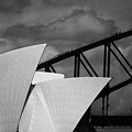 Sydney Opera House With Harbour Bridge by Avalon Fine Art Photography