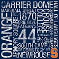 Syracuse College Colors Subway Art by Replay Photos