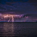 Tahoe Lightning Print by Mitch Shindelbower