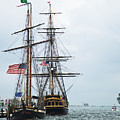 Tall Ships Hms Bounty And Privateer Lynx At Peanut Island Florida by Michelle Wiarda