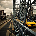 Taxi Crossing Smithfield Street Bridge Pittsburgh Pennsylvania by Amy Cicconi