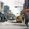 Taxi Print by Ryan Radke