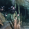 Technical Divers In Dreamgate Cave by Karen Doody