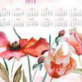 Template For Calendar 2013 by Regina Jershova