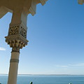Terrace With A View Of The Sea On Top Of The Palacio De Valle by Sami Sarkis