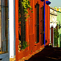 Terracotta House On The Hill by Mexicolors Art Photography