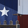 Texas Flag Painted On A House by Jeremy Woodhouse