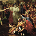 The Adoration Of The Golden Calf by Nicolas Poussin