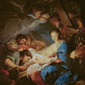 The Adoration Of The Shepherds by Charle van Loo