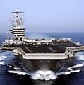 The Aircraft Carrier Uss Dwight D by Stocktrek Images