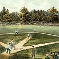 The American National Game Of Baseball Grand Match At Elysian Fields by Currier and Ives