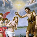 The Baptism Of Christ by Ottavio Vannini