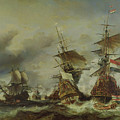 The Battle Of Texel by Louis Eugene Gabriel Isabey