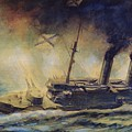 The Battle Of The Gulf Of Riga by Mikhail Mikhailovich Semyonov