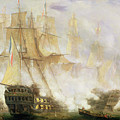 The Battle Of Trafalgar by John Christian Schetky