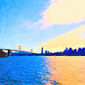 The Bay Bridge And The San Francisco Skyline by Wingsdomain Art and Photography