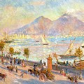The Bay Of Naples With Vesuvius In The Background by Pierre Auguste Renoir