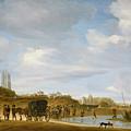 The Beach At Egmond An Zee by Salomon van Ruysdael