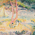The Beach At St Clair by Henri-Edmond Cross