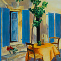 The Blue Shutters by Elise Palmigiani
