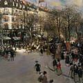 The Boulevard Des Italiens by Jean Francois Raffaelli