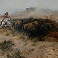 The Buffalo Hunt by Charles Russell