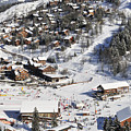 The Busy Chaudanne In Meribel The Heart Of Meribel In The Three Valleys Resort France by Andy Smy