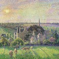 The Church And Farm Of Eragny by Camille Pissarro