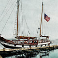 The Cutty Sark In Penn Cove Fog by Perry Woodfin