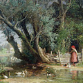 The Duck Pond by Eduard Heinel