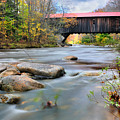 The Durgin Covered bridge - Sandwich NH Print by Thomas Schoeller