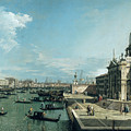 The Entrance To The Grand Canal And The Church Of Santa Maria Della Salute by Canaletto