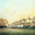 The Fourth Action Off Trincomalee Between The English And The French by Dominic Serres