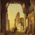 The Gates Of El Geber In Morocco by Francois Antoine Bossuet