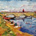 The Gleize Bridge Over The Vigneyret Canal  by Vincent van Gogh